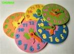 1 Шт. Дети DIY Ева Часы Обучения Образование Игрушки Весело Головоломки Игры для Детей 3-6 лет