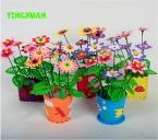 5 шт./лот Ручной EVA Цветочный горшок Игрушки Дети DIY Ремесло Комплекты Обучающие Игрушки для девочек 3-6years