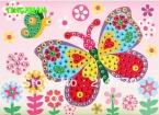10 шт./лот 19*26.5 см DIY Кристалл Мозаика Стикера Искусства Обучения Обучающие Игрушки для Детей Рождество   Подарок для Детей