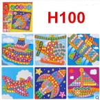 """6 видов в 1 комплекте. Развивающая игрушка """"сделай сам"""" для детей. 3D-мозаика с изображениями животных из пластиковых клеящихся элементов"""
