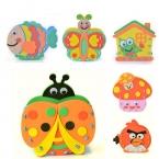 12 Цветов DIY Развивающие игрушки подарок ЕВА детские руки Ручной Работы Из Войлока Craft Комплекты Игрушки Контейнер Ручки для Детей