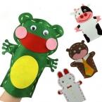 16 Стиль  дизайн DIY Легко Ремесел Нетканые Ткани Животных Рук Кукольный Дети Детский Творчества DIY Швейные игрушки