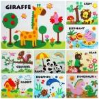 дизайн DIY нетканые ЕВА 3 d головоломки мультфильм животных горшок дети рука игрушки, Раннего детства обучающие игрушки dw01
