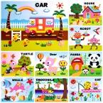 16 стиль/Серия DIY Мультфильм Животных 3D Стикер Пены EVA Головоломки Раннего Обучения Образование Игрушки для Детей
