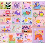 20 стиль дизайна/lot DIY Мультфильм Животных 3D Стикер Пены EVA Головоломки Серии E Раннего Обучения Образование Игрушки для дети