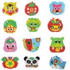 21 Дизайн DIY Мультфильм животных овощи горшок Дети рука игрушки пены EVA головоломки DIY ремесел для детей, изучающих и развивающих игрушки