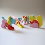 Творческий СДЕЛАЙ САМ Ручной EVA Пены 3d-трехмерная Intelligence Развития Животных Головоломки детские Игрушки подарки