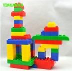 46 шт./упак. Дети Большого Размера между замок большие цветные Пластиковые Образовательные игрушки Строительных Блоков Наборы Наборы для малыша творчество