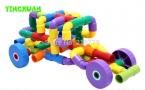 46 шт./компл. Многоцветный Дети Пластиковые Туннель Водопровод Строительные Блоки Устанавливает Детский Сад Развивающие Игрушки для детского Творчества