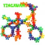 50 шт./упак. Дети Пластиковые Цветок Строительные Блоки Обучающие Наборы Наборы для Творчества малыша Детский Сад игрушки