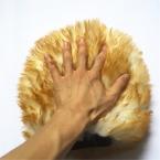Двойная Сторона Не Поцарапать Оригинальный Австралийский Подлинной Овчины Mitt, Длинные Волосы Шерсть Автомойка Митт