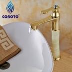 Высокий Бассейна Кран Золотой Одной Ручкой Ванная Комната Высокий Смеситель для раковины Кран CRT5288--22A