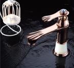 Кран Бассейна Вырос Золотой Одной Ручкой Ванная Комната Смеситель для раковины Кран CRT5288--11C