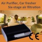 Автомобиль очиститель воздуха GL-518 HEPA активированный уголь фотокатализ анти-уф анион озон воздушный фильтр