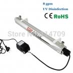 SS304 8 GPM УФ Стерилизатор Дезинфекция Система CE, RoHS для Очистки Воды