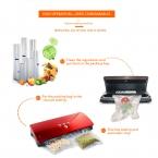 Вакуумный упаковщик для вакуумный упаковщик с вакуумные пакеты для продуктов питания хранится более 6 раз больше, чем при нормальной температуре Черный