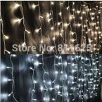 ЕС США Plug 3 м * 3 м 300 Светодиоды огни полосы Шнура СИД занавес свет Рождество дома сад фестиваль огней