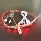 Водонепроницаемый LED String Свет USB Для Зарядки Аккумуляторных Батарейках 3 В SMD3528 RGB 60 СМ 24 СВЕТОДИОДНЫЕ Ленты Полоски для DIY Обувь подарок
