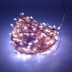 Высокая Доставленных 50 М 500 LED Медный Провод Фея Рождество Свадьба Фестиваль Света Строки   Адаптер Питания