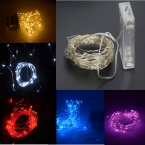 10 М 100 led 3 AA Батарейках Декоративные LED Серебряной Проволоки Фея Огни Строки для  Праздник Свадьба и стороны