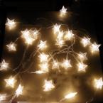 4 М 40 ПРИВЕЛО Партия Фея Света, Работающий От Батареи пятиконечная Звезда СВЕТОДИОДНЫЕ строки огни для Домашнего Свадьба Рождество Украшения партии