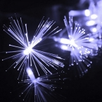 220 В ЕС Plug 10 М 100 LED Волоконно-Оптический Свет Шнура Мерцание Света на Рождество и Свадьбы Украшения
