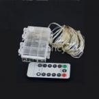 Пульт Дистанционного Управления и Таймер 3X АА Батареи Powered 10 М 33ft 100 Светодиодные Рождественские Гирлянды Серебряной Проволоки Звездное Свет Строка luces