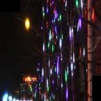 AC 110 В до 240 В 8 Труб в одном наборе 50 см 30 LED общей 240 LED Метеоритный Дождь Дождь Свет Пробки Белый Синий Открытый Дерево украшения