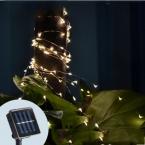 Солнечная Энергия 33 ФУТОВ 100 СВЕТОДИОДОВ Строка Фея Света Открытый Для  Вечер Сад 3 Цветов Бесплатная Доставка