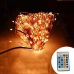 ИК-Пульт Дистанционного Управления 50 М 165Ft 500 LED Медная Проволока Теплый Белый Многоцветный Свет Шнура СИД Фары Звездное С Властью адаптер