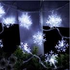 33 ФУТОВ Снега 10 М 80 СВЕТОДИОДОВ Строка Сказочных Огней Праздник Рождества Христова Освещение Свадебные Украшения