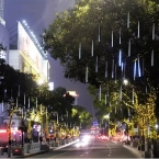 Двухсторонний 50 см Метеорный поток Дождь Трубы Led Light 100-240 В ЕС США Plug Рождественские Строка света Свадьба Сад Украшения Xmas