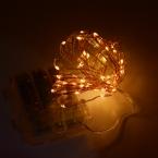 Пульт дистанционного Управления и Таймер 16.5 ФУТОВ 5 М 50 Светодиодов Медный Провод теплый Белый Батарейках Света Шнура СИД Фары Звездное гирляндой