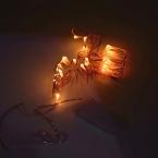 10 шт./лот 2 м 3 м Cr2032 Батарейках Теплый Белый Белый СВЕТОДИОДНЫЕ Строки Свет Медь Фея Рождество Партия свадьба Свет