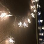 7 цветов 3 м 30 светодиодов Батарейках Снежинка сосулька LED Фестиваль Рождество Свадьба Свет Украшения Строка Свет