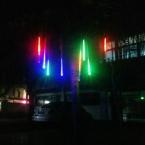 110v/220v 30см 8 труб 18 1w каждый трубки) 144 светодиодов строку привело метеор тропическим душем лампочки лампы украшения рождественской елки