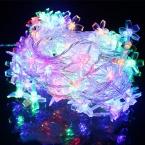 220 В ес вилка 10 м 100 из светодиодов кристалл вишни веревка строка огни рождественские огни гирлянда для сада фея свадебный декор