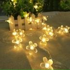 Красочные 4 М 40 * Светодиоды Peach Blossom Форма Светодиодные Открытый Строка Огни Рождественские Огни Для Сада Партия Украшения