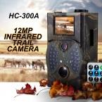 Горячей Продажи 12MP Дикой Природы Trail Камеры Скаутинг Цифровая Камера Инфракрасный Trail Охота Камеры HC-300A Ловушка Игры Дикой Природы Камеры
