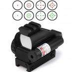 Продажи Охота Тактический 20 мм Прицелов Оптика Голографический Зеленый Red Dot Reflex зрения Область с 4 Различных Сетка Железнодорожных крепление