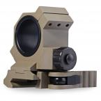 Высокое Качество 1 шт. 30MM1 Дюймовый Army Green Кольцо Quick Release кронштейн для Оптического Прицела для 20 ММ Пикатинни Регулируемый Диаметр сфера