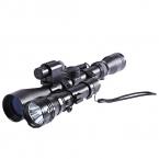 Объем Устройство Крепление для Винтовки Пистолет Лазерный Фонарик Охота Комплект 150-450 ярдов 20 мм Гора Фонарик дизайн