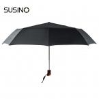 Susino Ветрозащитный Зонты Полуавтоматическая Открыть Sturty Металла Эпонж Компактный Прочность Три складной Зонтик 3012