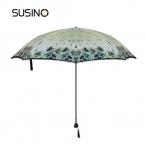 Susino ветрозащитный зонт руководство открыть Sturty металл черное покрытие компактный Ultraslim прочность двойного складной зонтик 831032075 P