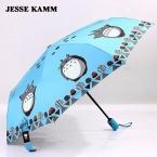 Новые Прибытия Женщины Мужчины Ветрозащитный Стекловолокна Дождь Компактный Три Полностью Автоматический Складной Анти-Уф Вс Дождь Зонты Моды