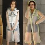 Новых женщин Способа Прозрачно Ева Пластиковые Девушки Плащ Путешествия Водонепроницаемые Плащи Взрослых Пончо Открытый Пальто Дождя
