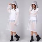 Продажи ЕВА Плащ С Капюшоном Мода женщина Noctilucence Водонепроницаемый Открытый Пальто Дождя Пончо С Капюшоном Колен Плащи