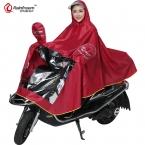 Rainfreem Мужчины/Женщины Непроницаемой Мотоцикл Плащ Толщиной Двойного слоя Пальто Дождя Прозрачный Капот Открытый Женщины Дождя Пончо