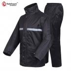Rainfreem Абсолютно Непроницаемый Плащ Женщины/Мужчины Куртка Брюки Набор Взрослых Дождь Пончо Толщиной Полиции От Дождя Мотоцикл Rainsuit