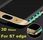 S7 Края Пленки для Стекла Изогнутой Поверхности Шелкография 3D Full крышка Из Закаленного Стекла Для samsung galaxy s7 edge G9350 экран протектор